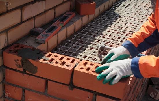 Армирование кирпичной кладки - правила монтажа