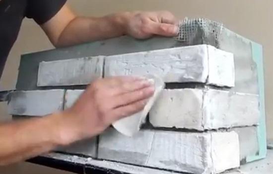 Кирпич из гипсокартона своими руками - особенности, технология изготовления