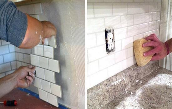 Плитка под кирпич для кухни - способы укладки
