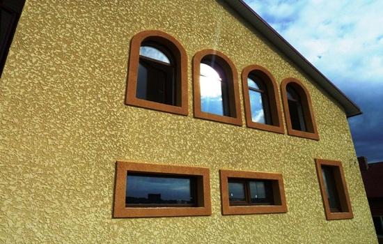 Штукатурка барашек – варианты отделки стен дома