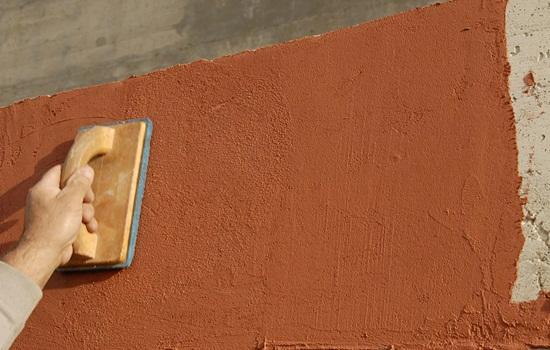 Фасадная штукатурка короед – технология нанесения