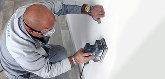 Шлифовка стен после шпаклевки – технология проведения работ